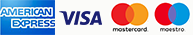 Accepted cards: American Express, Visa, MasterCard, Maestro